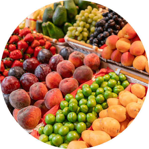 fruits in the grocery store