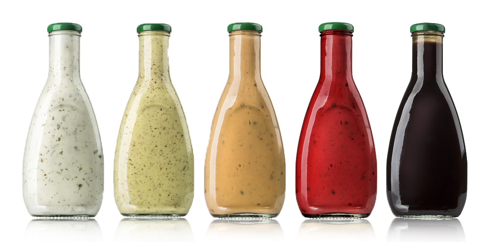 sauces in bottles