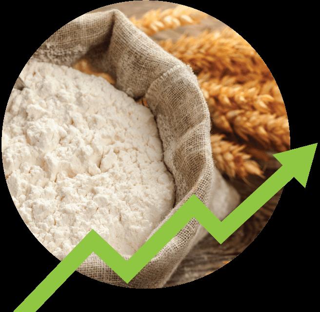 sales arrow on flour sack