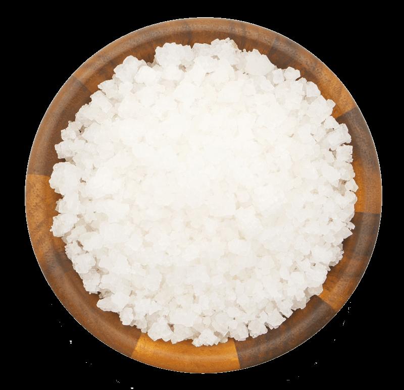close up bowl of salt